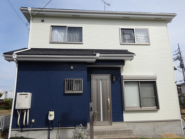 【施工実績224】外壁塗装・屋根重ね葺き:群馬県高崎市