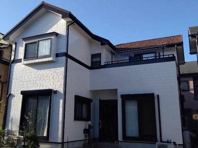 【施工実績327】外壁塗装・屋根重ね葺き:埼玉県八潮市